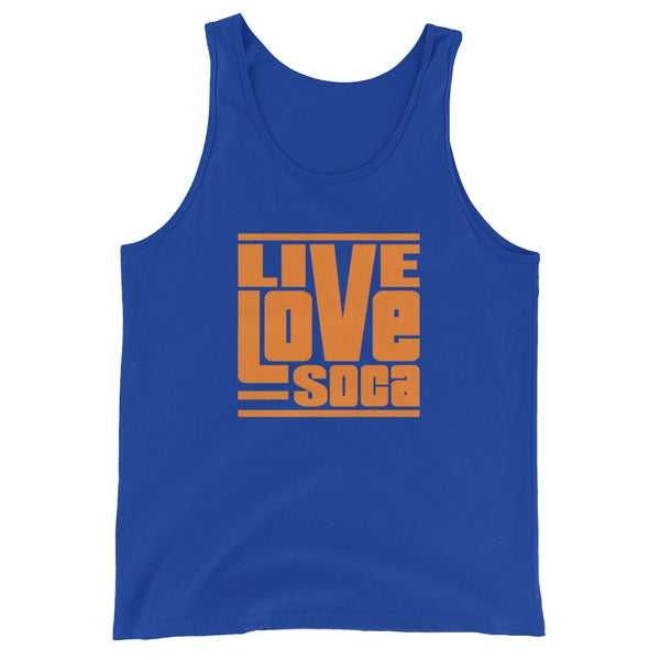 Endless Summer - Orange Blue Mens Tank Top - Live Love Soca Clothing & Accessories
