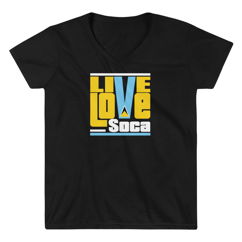 Saint Lucia Islands Edition Womens V-Neck T-Shirt - Live Love Soca Clothing & Accessories