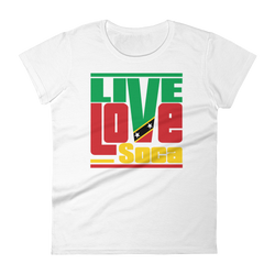 Saint Kitts Islands Edition Womens T-Shirt - Live Love Soca Clothing & Accessories