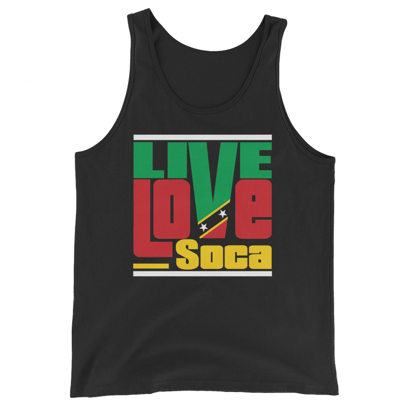 Saint Kitts & Nevis Islands Edition Mens Tank Top - Live Love Soca Clothing & Accessories