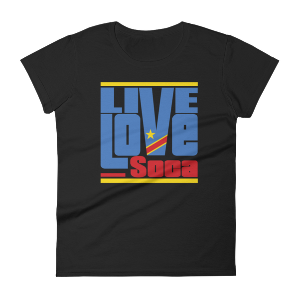 Congo Africa Edition Womens T-Shirt - Live Love Soca Clothing & Accessories