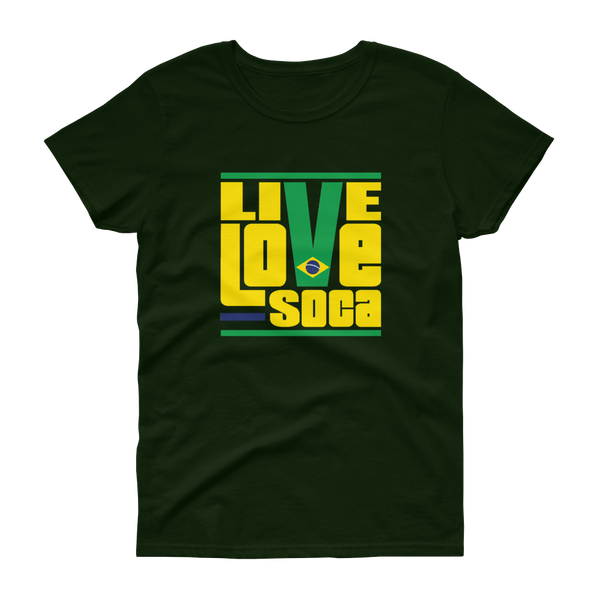 Brazil South America Edition Womens T-Shirt - Live Love Soca Clothing & Accessories