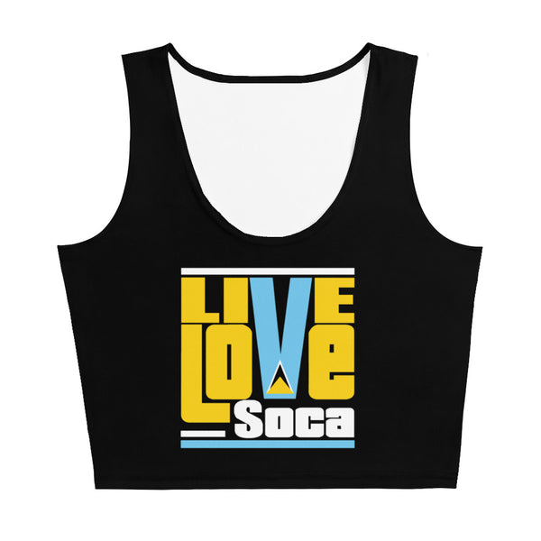 Saint Lucia Islands Edition Crop Tank Top - Fitted - Live Love Soca Clothing & Accessories