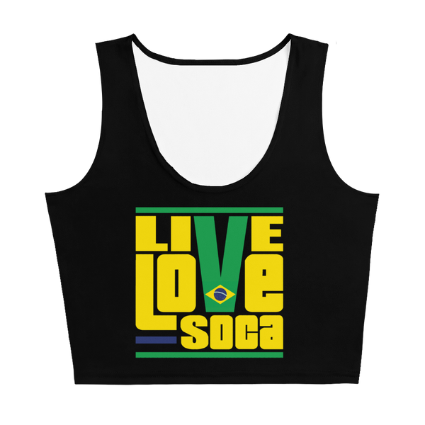 Brazil South America Edition Womens Crop Tank Top - Live Love Soca Clothing & Accessories