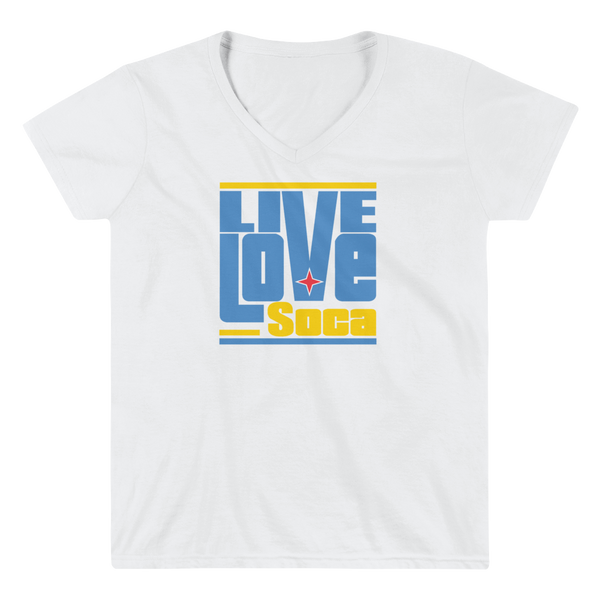 Aruba Islands Edition Womens V-Neck T-Shirt - Live Love Soca Clothing & Accessories