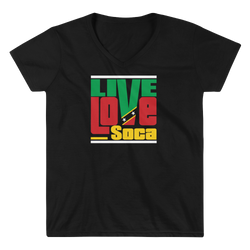 Saint Kitts Islands Edition Womens V-Neck T-Shirt - Live Love Soca Clothing & Accessories
