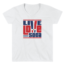 Dominica Republic Islands Edition Womens V-Neck T-Shirt - Live Love Soca Clothing & Accessories