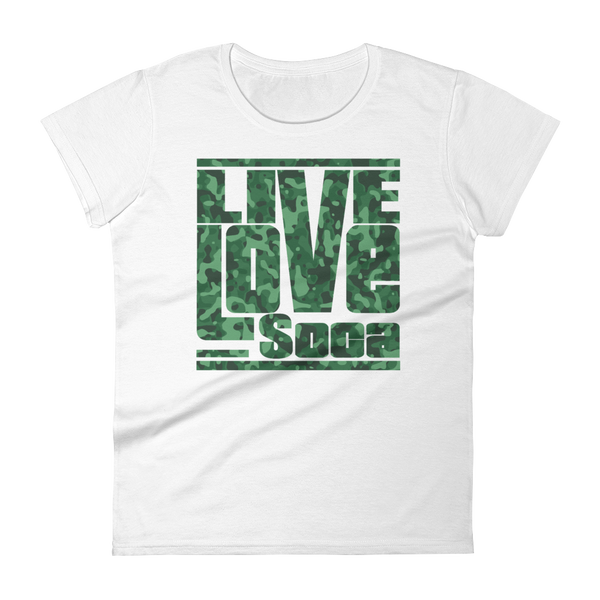 White Army Womens T-Shirt - Live Love Soca Clothing & Accessories