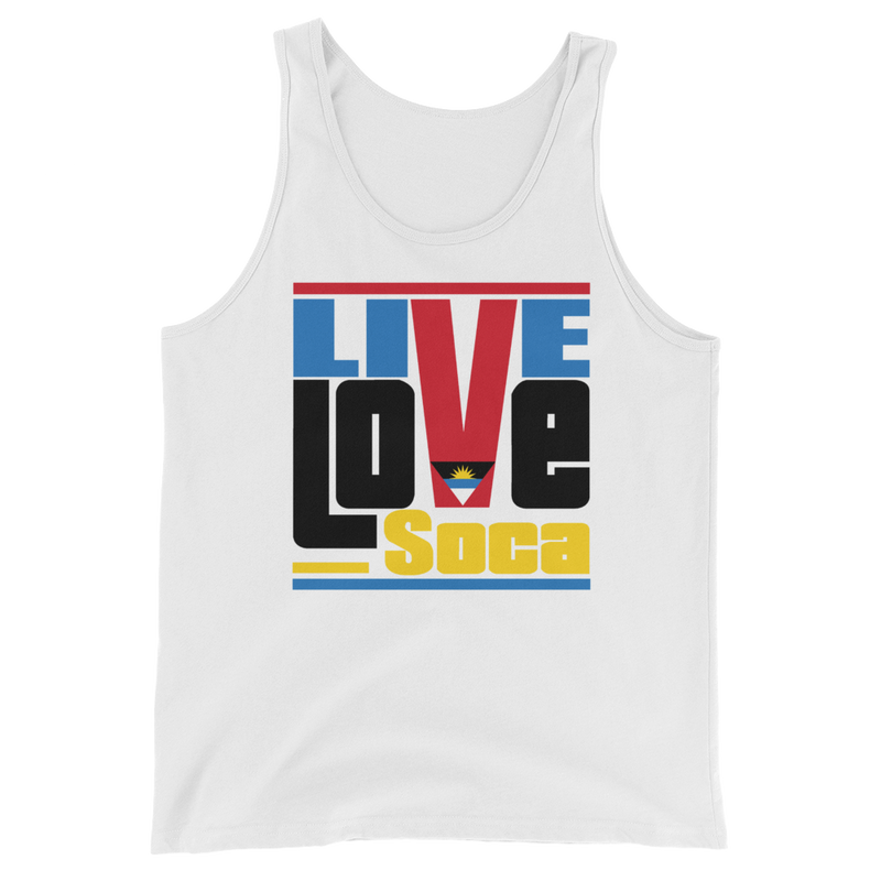 Antigua & Barbuda Islands Edition Mens Tank Top - Live Love Soca Clothing & Accessories