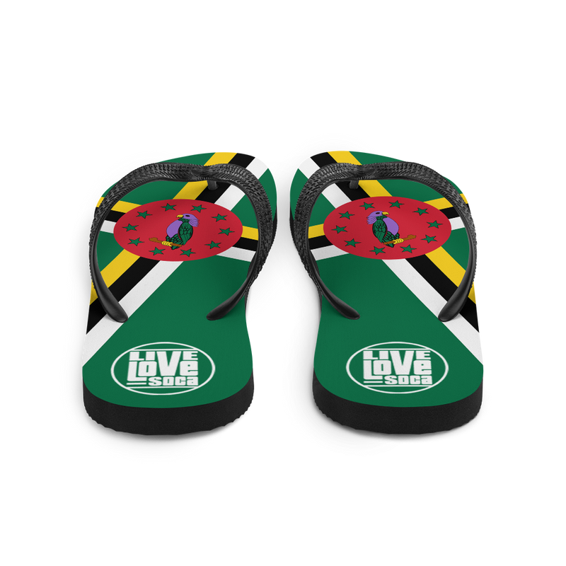 Island Dominica Flip Flops - Live Love Soca Clothing & Accessories