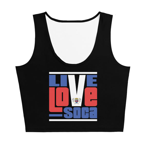 Saint Barthelemy Islands Edition Black Crop Tank Top - Fitted - Live Love Soca Clothing & Accessories