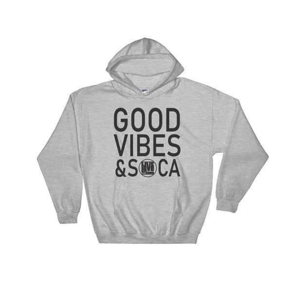 Good Vibes & Soca Grey Mens Hoodie - Live Love Soca Clothing & Accessories