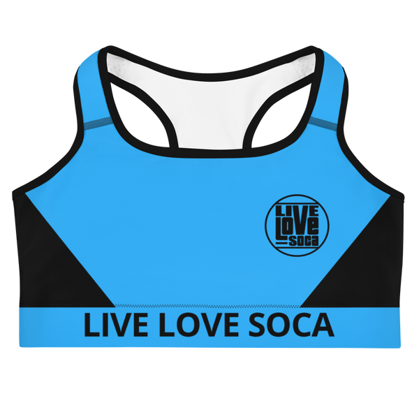 Neon Active Blue Sports Bra - Live Love Soca Clothing & Accessories