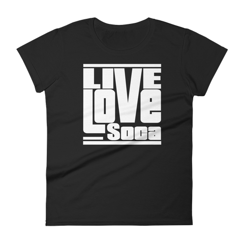 Black Edition Womens T-Shirt - White Print - Fitted - Live Love Soca Clothing & Accessories