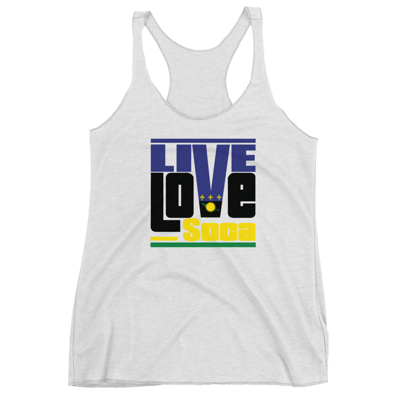 Guadeloupe Islands Edition White Womens Tank Top - Live Love Soca Clothing & Accessories