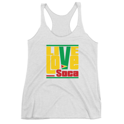 Guyana Islands Edition White Womens Tank Top - Live Love Soca Clothing & Accessories