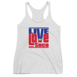 Haiti Islands Edition White Womens Tank Top - Live Love Soca Clothing & Accessories
