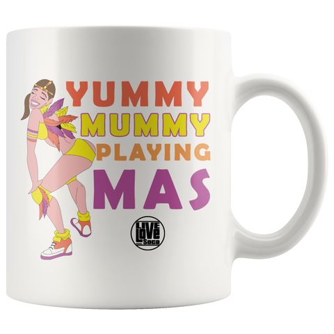 YUMMY MUMMY PLAYING MAS MUG (Designed By Live Love Soca)