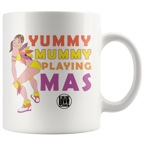 YUMMY MUMMY PLAYING MAS MUG (Designed By Live Love Soca) - Live Love Soca Clothing & Accessories