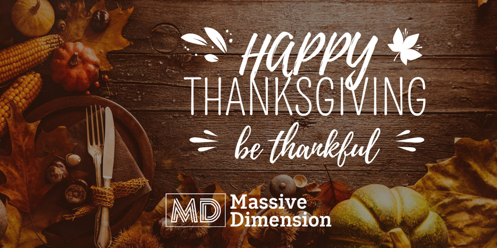 Happy Thanksgiving from Massive Dimension!