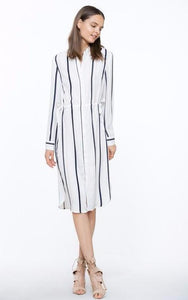 Ivory Stripe Dress