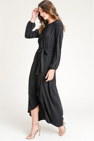 Tie Maxi Dress - Black