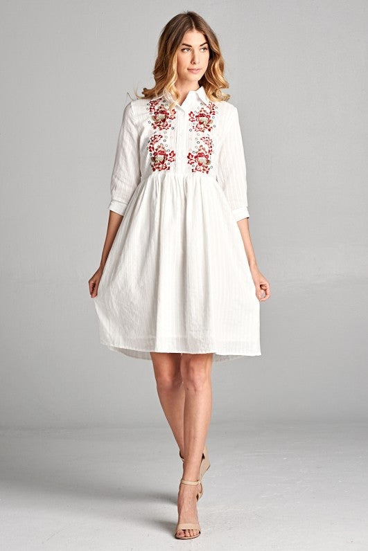 11c6698df Embroidered Eyelet Dress – Leah and Pearl