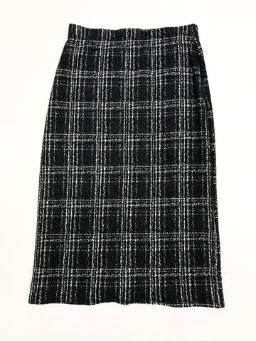 Plaid Knit Skirt