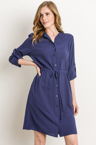 Coastal Dress - Navy