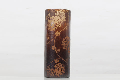 BROWN FLOWER VASE