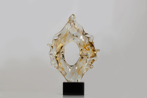 YELLOW GLASS SCULPTURE