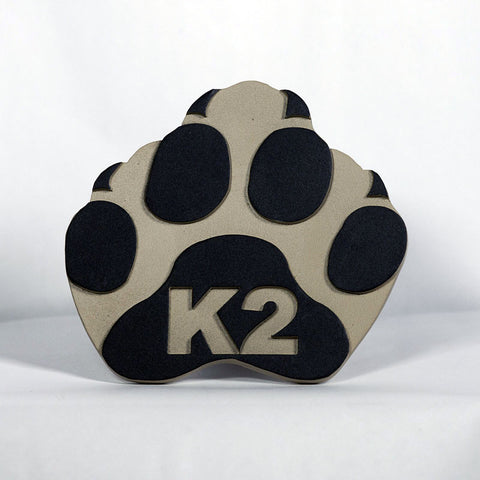 K2 Hitch Cover (Paw Print-Tan)
