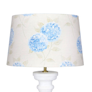 Hydrangea Lampshade -Paris Blue On Mist - Meg Morton