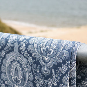 Highcliffe Linen Fabric- Large - Bute Blue - Meg Morton
