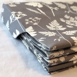 Summer Lane Cow Parsley Linen Fabric - Kimmeridge Grey