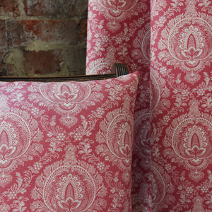 Highcliffe Fabric- Large - Stone On Andelys Red