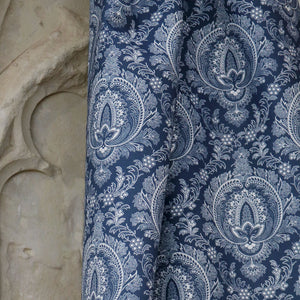 Highcliffe Linen Fabric - Bute Blue - Meg Morton