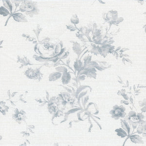 Adelaine Floral Linen Fabric - French Grey - Meg Morton