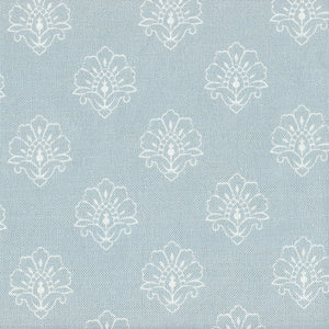 Jhansi Fabric - Whisper On Blue Haze - Meg Morton