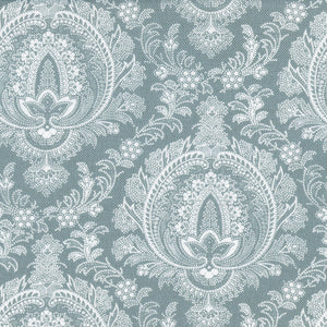 Highcliffe Linen Fabric - Winter Garden - Meg Morton