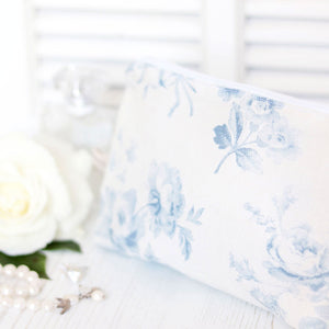 Adelaine Blue On Mist - Make Up Bag - Meg Morton