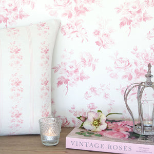 Adelaine Wallpaper- Cheverny Pink - Meg Morton