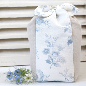 Adelaine Lavender Scented Tie Top Doorstop - Loire Blue On White - Meg Morton