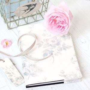 Adelaine Fabric-covered Notebook - French Grey - Meg Morton