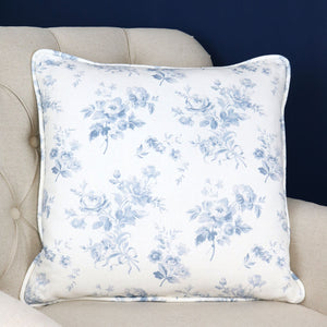 Adelaine Square Piped Cushion - Loire Blue - Meg Morton