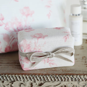 Fabric-covered French Soap - Adelaine Cheverny Pink - Meg Morton
