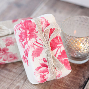 Fabric-covered French Soap - Adelaine Raspberry Red - Meg Morton