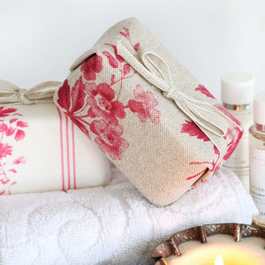 Fabric-covered French Soap - Adelaine Amboise Red