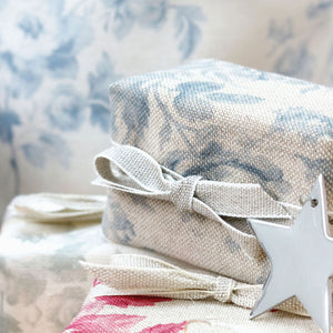 Fabric-covered French Soap - Adelaine Villandry Blue