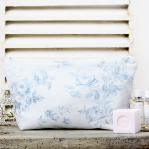 Adelaine Wash Bag - Loire Blue On Mist - Meg Morton